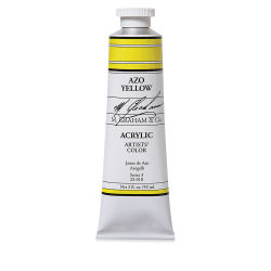 M. Graham Artists' Acrylics - Azo Yellow, 2 oz tube