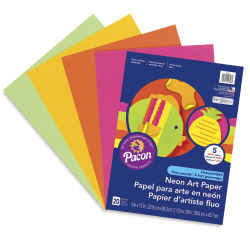 Pacon Neon Art Paper - 9'' x 12'', 20 Sheets