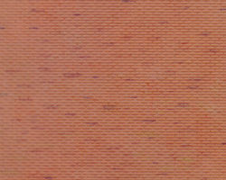 Plastruct Patterned Sheets, Brick, 1:125 Scale (finished example)
