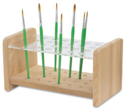 Wood & Acrylic Brush Holder