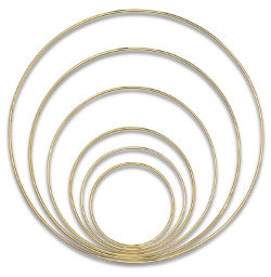 Darice Gold-Tone Welded Macramé Rings