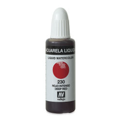 Vallejo Liquid Watercolor - Deep Red, 32 ml