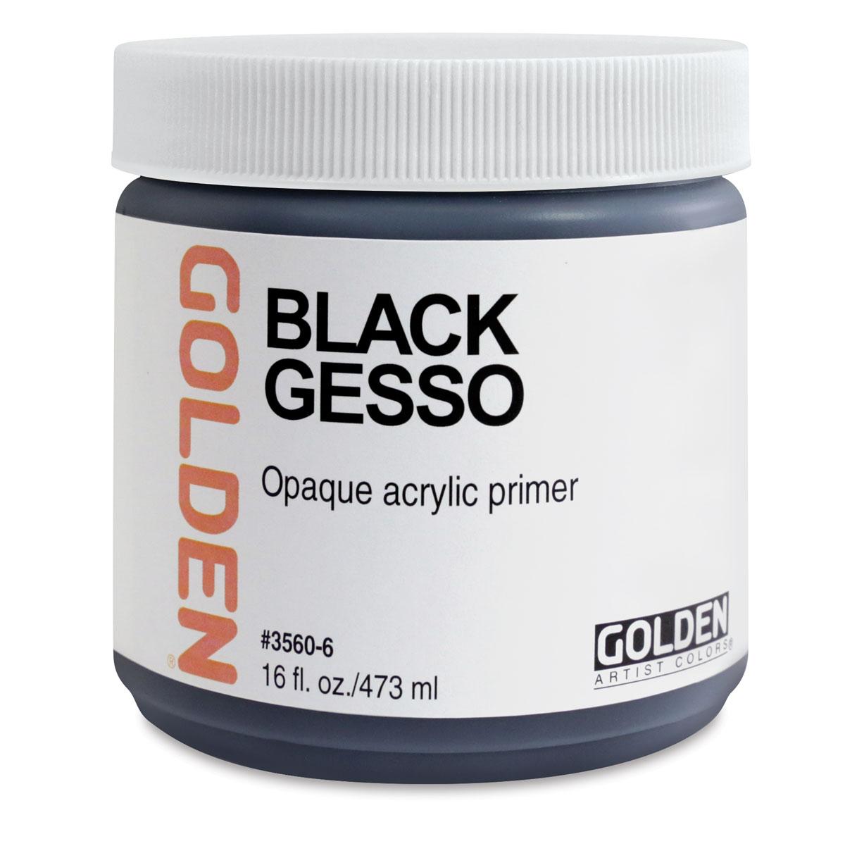 Golden Gesso - Black, 16 oz jar
