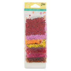 Hampton Art Shaker Fillers - Jewels, Warm Colors, Pkg of 8