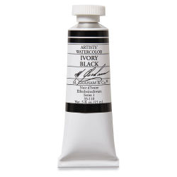 M. Graham Artists' Watercolor - Ivory Black, 15 ml tube
