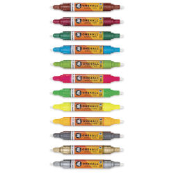 Molotow One4All Acrylic Twin Markers - Main Kit 2, Set of 12 without caps