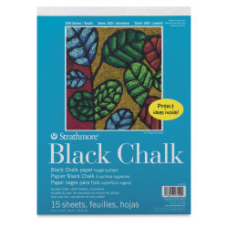 Strathmore 100 Series Black Chalk Paper Pad - 9'' x 12'', 15 Sheets