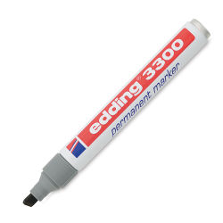 Edding Permanent Marker - Grey, 3300, Chisel Nib, 1-5 mm