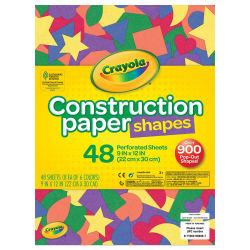 Crayola Construction Paper Shapes - 48 Sheets
