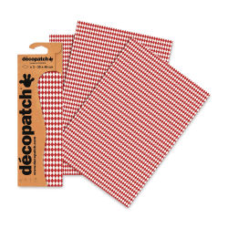 "DecoPatch Papers - Red/White Diamonds, Package of 3, 12"" x 16"""