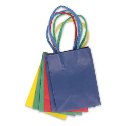 Gift Bags - Primary Colors, Pkg of 6, Mini, 4'' x 3'' x 2''