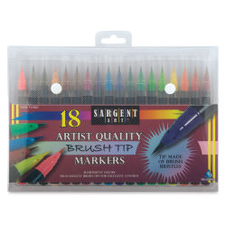 Sargent Art Artist Brush Tip Markers, Set of 18