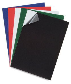 Stick-It Felt Sheets - 9'' x 12'', Pkg of 6, Black
