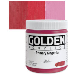 Golden Heavy Body Artist Acrylics - Primary Magenta, 8 oz tube