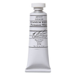 M. Graham Artists' Gouache - Titanium White, 15 ml tube