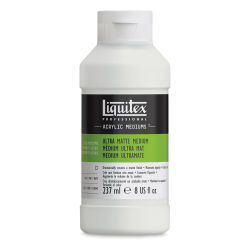 Liquitex Acrylic Mediums - Ultra Matte, 8 oz. Front of bottle.