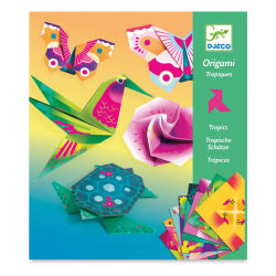 Djeco Origami Kit - Tropics (Front of packaging)