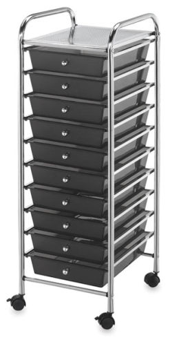 Mobile Storage Cart, 10-Drawer
