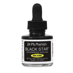 Dr. Ph. Martin's Black Star India Ink - Hicarb, 1 oz