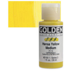 Golden Fluid Acrylics - Hansa Yellow Medium, 1 oz bottle