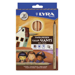 Lyra Skintone Giant Pencils - Set of 12