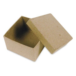 "DecoPatch Paper Mache Boxes - Square, 2"" W x 2"" L x 1"" H"