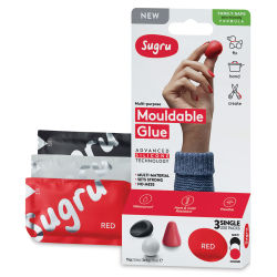 Sugru Mouldable Glue - Pkg of 3, Black/Red/White