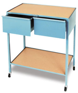 2-Drawer Taboret, Horizontal