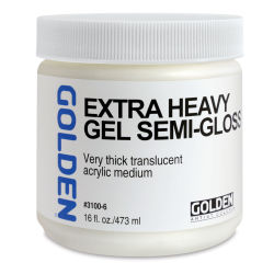 Golden Extra Heavy Acrylic Gel Medium - Semi-Gloss, 16 oz jar