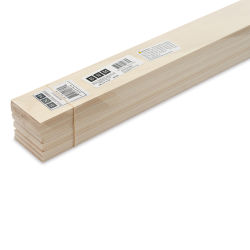"Bud Nosen Basswood Sheets - 1/8"" x 2"" x 24"", 15 Sheets"