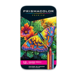 Prismacolor Premier Colored Pencils - Assorted Colors, Set of 12. Front of package.