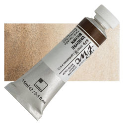 PWC Extra Fine Professional Watercolor - Vandyke Brown, 15 ml, Swatch with Tube