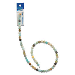 John Bead Semi-Precious Beads - Amazonite, 6 mm, 16'' Strand