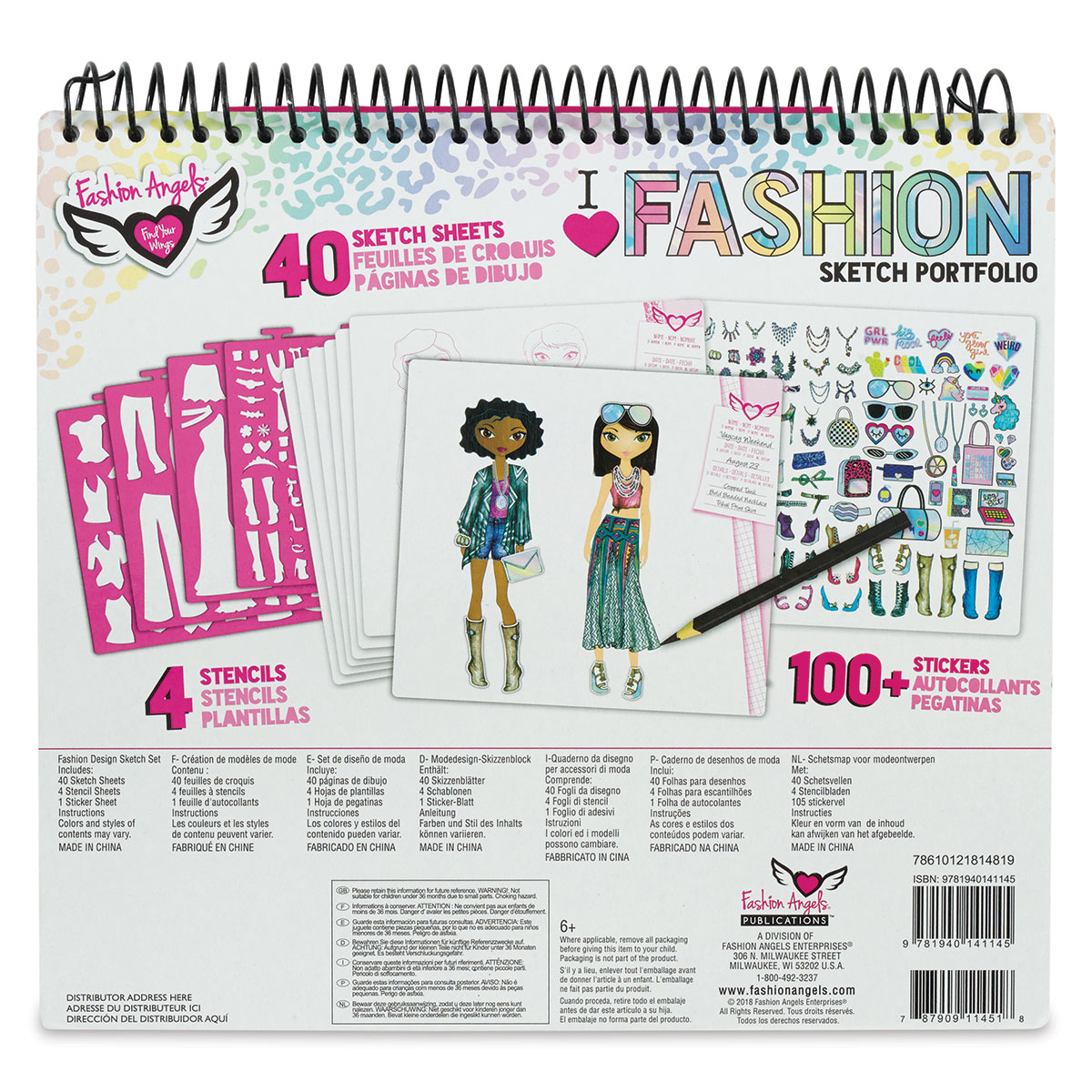 Fashion Angels Fashion Design Sketch Portfolio Blick Art Materials