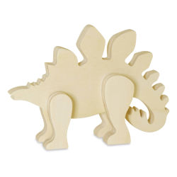 Craft Medley 3D Wood Shape - Stegosaurus, 6""