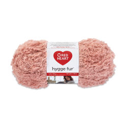 Red Heart Yarn Hygge Fur - Dusty Pink