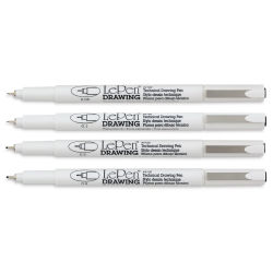 Marvy Uchida LePen Technical Drawing Pen - Set of 4, Black