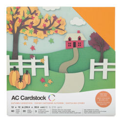 AC Cardstock Papers - 12'' x 12'', Autumn Colors, Pkg of 60 Sheets