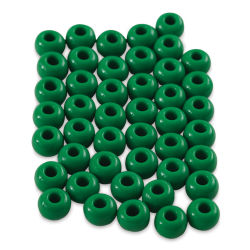 John Bead Fiber Craft Beads - Dark Green