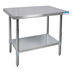 Diversified Woodcrafts Stainless Steel Table - 36'' Wide, 30'' Deep, 35'' High