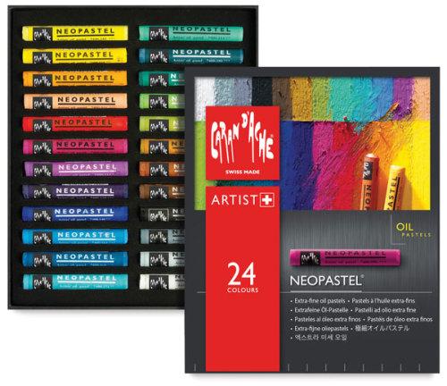 Caran d'Ache Neopastel Set - Assorted Colors, Set of 24