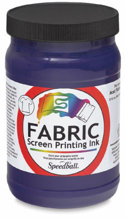 Speedball Water-Base Textile Screen Printing Ink - Violet, Quart