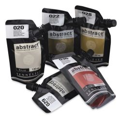 Sennelier Abstract Acrylic - Set of 5 Metallics, 120 ml pouches