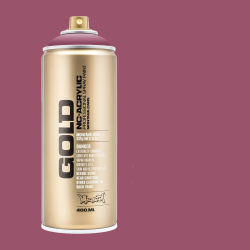 Montana Gold Acrylic Professional Spray Paint - Dusty Pink, 400 ml (Spray can with color swatch)