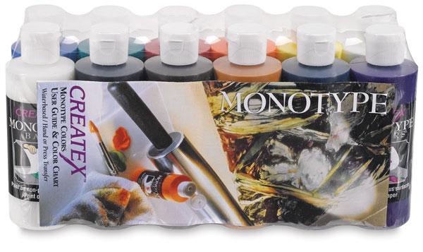 Createx Monotype Colors - Pro Set of 12, 4 oz bottles