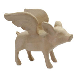 DecoPatch Large Paper Mache Animal - Flying Pig