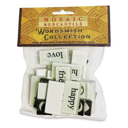 Mosaic Mercantile Word Tiles - Black/White, Package of 30 (In packaging)