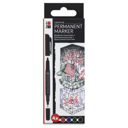 Marabu Graphix Permanent Markers - Set of 4, Once Upon a Time Colors