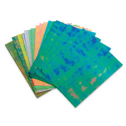 Black Ink Dotty Embossed Iridescent Paper Pack - 40 Sheets, 8-1/2'' x 11''