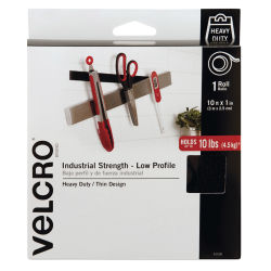 Velcro Brand Industrial Strength Low Profile Tape Roll - 1'' x 10 ft